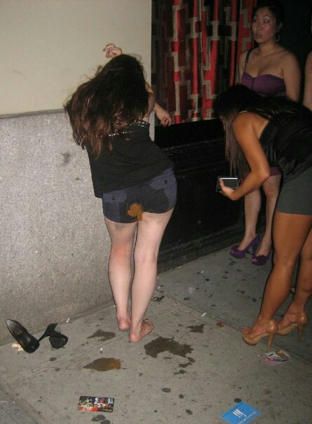 Interesting question Drunk girl poop fail