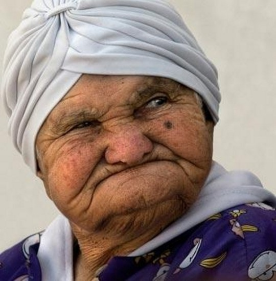 ugly old woman