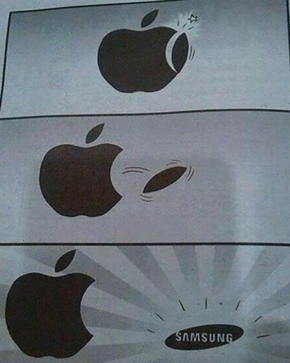 Funny Pictures Apple Samsung