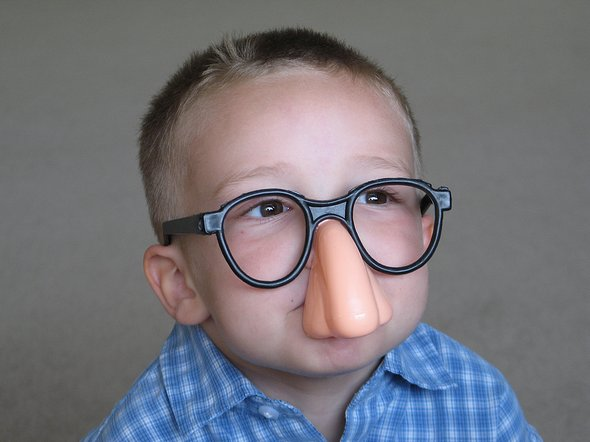 Funny Boy With Funny Glasses