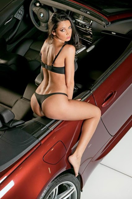 Girl car Sexy on