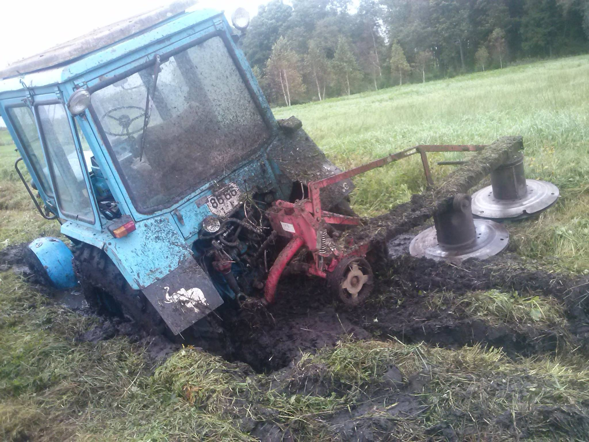 tractor driving fails