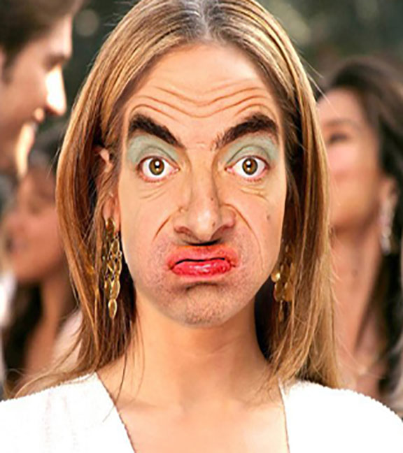funny face swap mr bean funny pictures