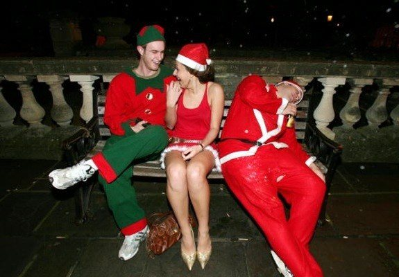 funny drunk people christmas party