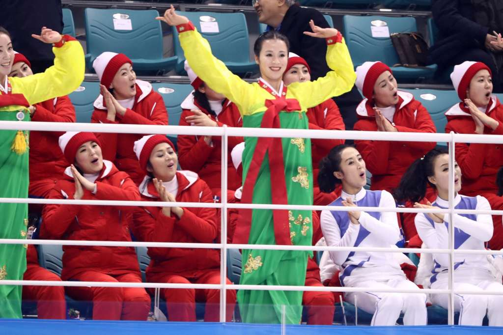 north korean cheerleaders funny